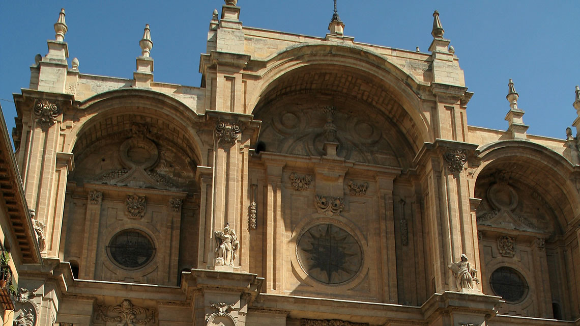 Kathedrale Und Stadtzentrum Von Granada
