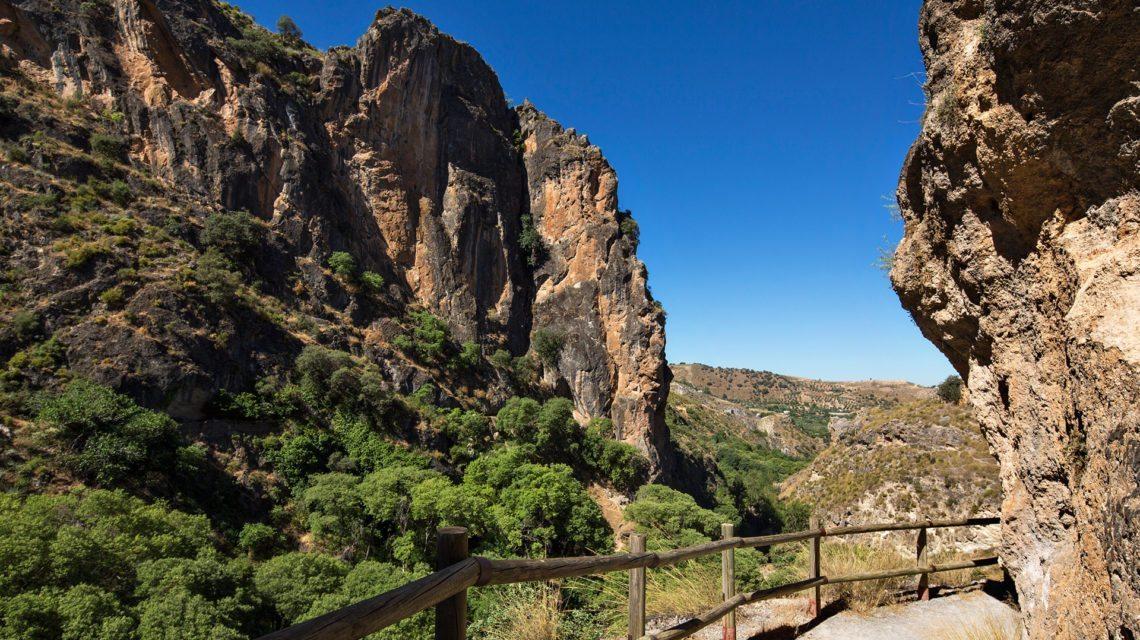 Desfiladero de Los Cahorros, Sierra NEvada. Monachil. Granada