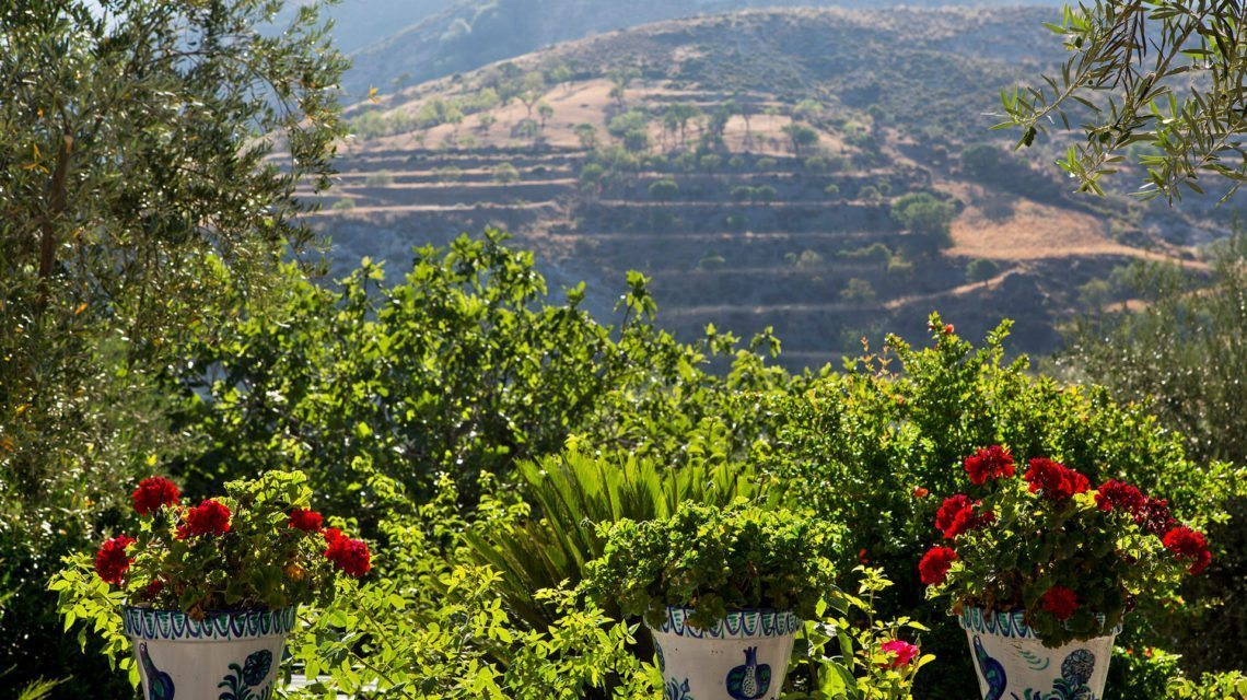Mountain views from one of Granada's charming hotels
